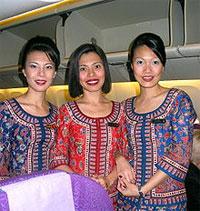 シンガポール航空 スチュワーデスさん